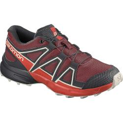 Salomon Junior's Speedcross Shoe - 3 - Red Dahlia / Cherry Tomato / Vanilla Ice