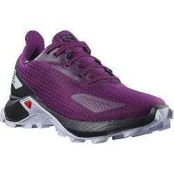 Salomon Juniors' Alphacross Blast CS Waterproof Shoe - 1.5 - Plum Caspia / Black / Purple Heather