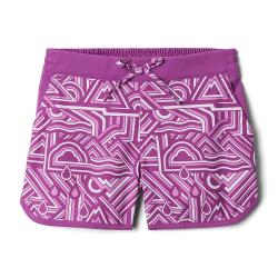 Columbia Girls' Sandy Shores Boardshort - Small - Berry Jam Geo Elements/Berry Jam