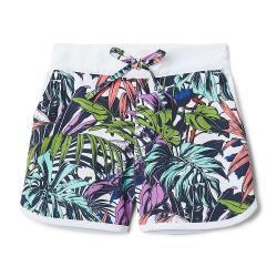 Columbia Toddler Girls' Sandy Shores Boardshort - 3T - White Toucanical Multi