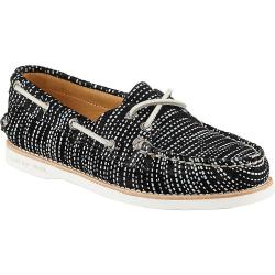 Sperry Women's Authentic Original Seasonal Shoe - 5.5 - Black / White Snake