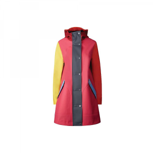 Hunter Women's Original Color Blocked Rubberised Hunting Coat – Small – Bright Pink Colorblock