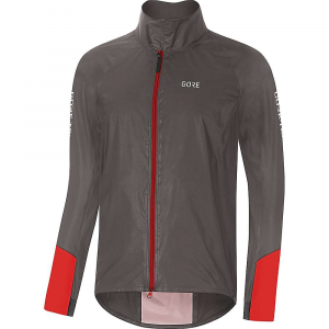 Gore Wear Men's Gore C5 GTX Shakedry 1985 Vis Jacket – Medium – Lava Grey / Red