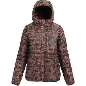 Burton Women's Aliz Evergreen Down Hooded Insulator Jacket – Small – Floral Camo / Moss Camo