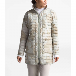 The North Face Women's ThermoBall Eco Long Jacket – Medium – Dove Grey Oversized Textured Camo Print