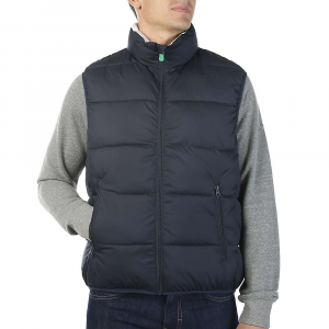 Save The Duck Men's Recycled Collection Reversible Vest – Medium – 0009 Navy Blue