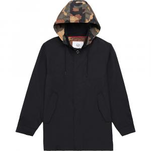 Herschel Supply Co Men's Stowaway Mac Jacket – Medium – Black / Woodland Camo
