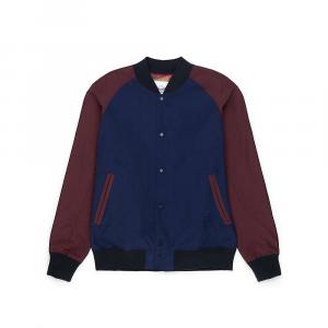 Herschel Supply Co Men's Varsity Jacket – Medium – Plum / Peacoat