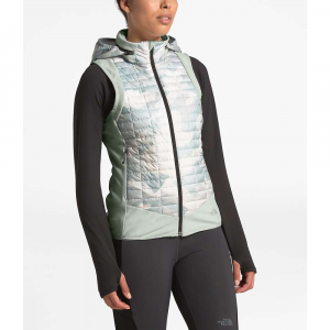 The North Face Women's ThermoBall Hybrid Vest – Large – Tin Grey / TNF White Waxed Camo Print