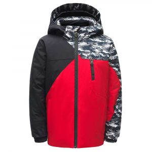 Spyder Boys' Mini Ambush Jacket – 2 – Red / Black / Spyder Camo Black