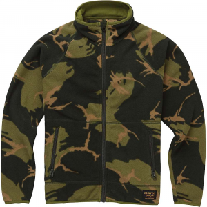 Burton Youth Spark Full-Zip Fleece Collar Jacket – XL – Mountain Camo