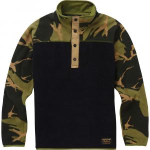 Burton Youth Spark Anorak Fleece Jacket – Medium – True Black / Mtn Camo