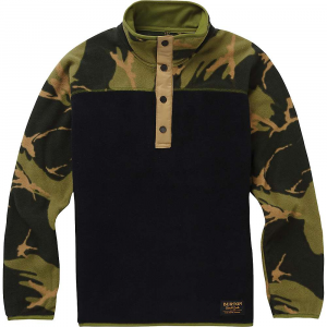 Burton Youth Spark Anorak Fleece Jacket – Large – True Black / Mtn Camo