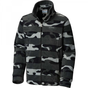 Columbia Youth Boys' Zing III Fleece Jacket – XL – Black Camo Stripe