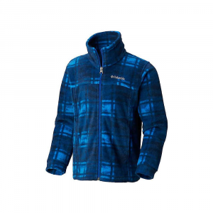 Columbia Youth Boys' Zing III Fleece Jacket – XL – Collegiate Navy Camo Plaid