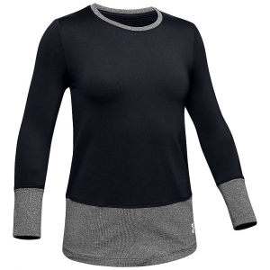 Under Armour Girls' ColdGear LS Crew Top – Small – Black / White