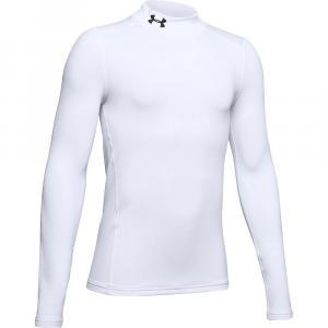 Under Armour Boys' Armour ColdGear Mock Top – XL – White / Black