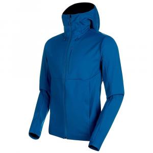 Mammut Men's Ultimate V SO Hooded Jacket – XL – Sapphire / Wing Teal Melange