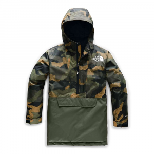 The North Face Youth Freedom Insulated Anorak – XS – British Khaki Waxed Camo Print