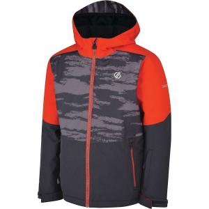 Dare 2B Kids' Aviate Jacket – 7-8 – Ebony Grey / Aluminium Grey Camo Print / Fiery Red