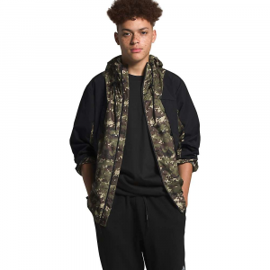 The North Face Men's Peril Wind Jacket – Medium – Burnt Olive Green Ux Digi Camo Print
