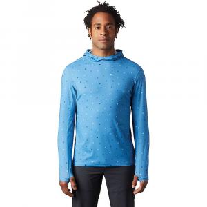 Mountain Hardwear Men's Crater Lake LS Hoody - XL - Deep Lake Cam Print