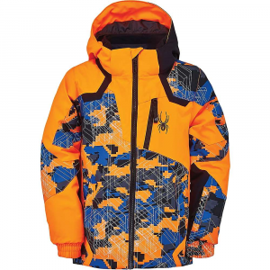 Spyder Boys' Mini Leader Jacket – 3 – Camo Maze Print