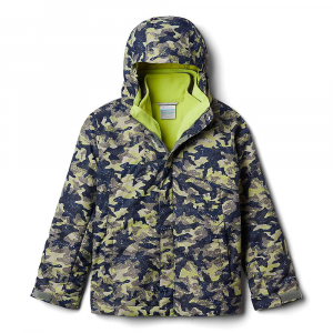 Columbia Boys' Bugaboo II Fleece Interchange Jacket – Large – Bright Chartreuse Camo Print