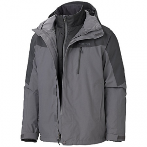 marmot men's bastione component jacket- Save 20% Off - On Sale. Free Shipping. Marmot Men's Bastione Component Jacket FEATURES of the Marmot Men's Bastione Component Jacket Marmot MemBrain Waterproof/Breathable Fabric 100% seam taped 2-layer construction Removable Storm Hood with Laminated Brim PitZips Chest Pocket with Water-Resistant Zipper Zippered Hand Pockets Adjustable Velcro Cuffs Removable Thermal R Liner Jacket Internal Zippered Media Pocket DriClime Lined Collar Elastic Draw Cord Hem