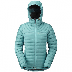 montane women's featherlite down jacket- Save 43% Off - On Sale. Free Shipping. Montane Women's Featherlite Down Jacket FEATURES of the Montane Women's Featherlite Down Jacket Lightweight, 100% windproof Pertex Quantum outer with a superior DWR PEAQ Down lining that is supremely comfortable next to the skin, highly breathable and fast drying Exceptionally high quality 750+ fill power Micro baffle anatomical construction allowing perfect loft space for the down Articulated arms for reach high movement and tailored specifically to reduce hem lift Down filled technical hood with three point adjustment Internal tab to lock down and roll away the hood in windy conditions Two hand-warmer pockets with YKK Reverse coil zips Full length, reversed and baffled YKK front zip Adjustable hem to prevent spindrift entry and heat loss Subtle Scotchlite Reflective roundel details Includes a Montane stuff sac perfect for storage on the move Activities: Fast Alpine / Mountain Walking / High Trekking / Travel / Basecamp / Mountain Marathon