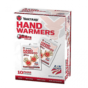 Yaktrax Hand Warmer 10 Pack