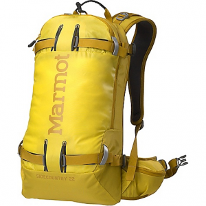 marmot sidecountry 22 pack- Save 24% Off - On Sale. Free Shipping. Marmot Sidecountry 22 Pack FEATURES of the Marmot Sidecountry 22 Pack Molded back panel to resist snow accumulation Main compartment access through back panel A-frame and diagonal ski carry system Vertical board carry system Shovel and probe pocket Padded, ergonomically designed shoulder harness Waist belt with pockets Driclime lined goggle pocket Hydration sleeve with reservior clip and port
