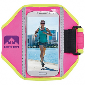 nathan super 5k armband- Save 39% Off - On Sale. Nathan Super 5K Armband FEATURES of the Nathan Super 5K Armband Ultra-lightweight, water-resistant neoprene keeps many types of phones or music devices protected Reflective hits for visibility under low-light conditions Comfort-fit for smooth feel on skin