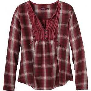 prana women's francine shirt- Save 61% Off - On Sale. Free Shipping. Prana Women's Francine Shirt FEATURES of the Prana Women's Francine Shirt Yarn dye double weave plaid design is great for those crisp fall nights around the campfire The reverse plaid at center front pintucks for super cute style points and features back yoke Metal beads at the end of the front ties and metal buttons at center front Made with fibers which meet regulations by the USDA National Organic program, ensuring highest environmental agricultural practices This style does run SMALL, so please size up for a more roomy fit. Sorry I used shout caps there. Don't hate me.