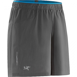 arcteryx men's adan short- Save 20% Off - On Sale. Free Shipping. Arcteryx Men's Adan Short FEATURES of the Arcteryx Men's Adan Short Super lightweight woven fabric with good mechanical stretch; DWR finish reduces moisture retention in fabric Brief liner has good next-to-skin feel; inseam eliminated to reduce chafing Minimal elasticized waist band with drawcord Rear zippered pocket with pocket flap Side split ensures ease of stride and encourages air flow Laminated hems for minimal seaming and construction Reflective blades enhance visibility in low light Provides sun protection (UPF 50+) Flatlocked seams lie flat for added comfort Articulated patterning for unrestricted mobility Adjustable elastic waist drawcord Side slits allow ease of movement Lumbar stash pocket with zip