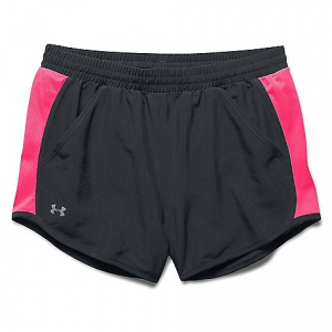 under armour women's fly by run short- Save 24% Off - On Sale. Under Armour Women's Fly By Run Short FEATURES of the Under Armour Women's Fly By Run Short Lightweight woven fabric delivers superior comfort and durability Signature Moisture Transport System wicks sweat to keep you dry and light Super-breathable mesh side panels to dump excess heat Wide covered elastic waistband for the perfect comfort fit Longer length and shaped hem deliver enhanced coverage without looking big and bulky Built-in anti-microbial brief keeps your gear fresher, longer Internal drawcord Internal key pocket at front left hip Front hand pockets create versatility for pre and post-run Reflective details deliver greater visibility on low-light runs