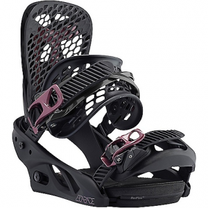 burton women's escapade snowboard binding- Save 19% Off - On Sale. Free Shipping. Burton Women's Escapade Snowboard Binding FEATURES of the Burton Women's Escapade Snowboard Binding Single-Component Baseplate Construction uses a One material throughout creates consistent response and feel for all-terrain domination 30% Short-Glass/Nylon Composite: Slightly more responsive than the park blend yet still plenty playful Re:Flex Baseplate Construction: Minimized, cored baseplate and living hinge disc, re:flex dramatically improves board flex and feel, and reduces weight Re:Flex Bindings: Re:flex offers more flex and feel than traditional disc bindings, all in a package that's universally compatible with all major mounting systems, including 4x4, 3D and The Channel the minimized, cored baseplate reduces weight and expands cushioning potential, while the living hinge disc is the secret to increased flex and feel Canted Hi-Back Design: ergonomic design, maximize control and comfort Zero Forward Lean HI-Back: Zero Forward Lean design on select hi-backs. As always, crank'em forward for quicker control when carving or climbing icy pipe walls Kickback Hammock: Lighter weight upgrade to the Heel Hammock, two-piece, heel-hugging hi-back, dynamic interaction between an internal spring and rubberized hammock reduced vibration, complete suspension. Featured on the Genesis est, Genesis, Escapade est, and Escapade Microflad: higher forward lean angle on hi-backs, quicker heel-edge turns For mind-blowing micro-adjustability, twice options of traditional flad Women's-Specific True Fit Design: Setup-from boot liners to lace guides, baseplate to strap designs, board shapes to flex profiles-has been designed and engineered for the way women ride Hammockstrap: Reactstrap roots in a stitch-less construction for ultra-response with minimal materials Flex Slider: New flex slider heel strap to flex and fall fully open. Forced molecular alignment, stronger Supergrip Capstrap: Ultra-minimized and