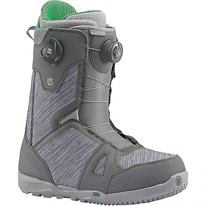 burton men's concord boa snowboard boot- Save 19% Off - On Sale. Free Shipping. Burton Men's Concord Boa Snowboard Boot FEATURES of the Burton Men's Concord Boa Snowboard Boot Dual Zone Boa Coiler Closure System: New england rope laces, effective lace adjustment, natural fiber ropes equal a more natural flex and feel for greater all-day comfort. Available in single and dual zone set-ups, the system quickly loosens or tightens with simple twists of the boa dial Wishbone Upper Cuff: The wishbone cuff defies convention, combining power and freedom into one.The medial and lateral sides for twice the snap, rebound, and the high tweakability of a softer boot. Featured on the ambush, felix, and new ambush smalls Flex Notches: These strategically placed flex notches allow for smoother, fluid lateral and medial flex, perfect for pressing and tweaking Medium Flex Powerup Tongue: Greater rebound and durability, dual density tongue construction. 3D molded tongues, thermoplastic-reinforced powerup plustongue on the Driver X Griplite Backstay Design: Snugging up the fit between boot and hi-back, new rubber print backstays also shave weight and enhance material-to-material grip. The result of this printed rubber application is more direct transfer from boot to binding to board for reduced rider fatigue Shrinkage Footprint Reduction Technology: Reduces the boot's overall footprint one full size, shorter, lighter, sleeker-never suffer from toe drag again Dynobite EST Optimized Outsole: Cushioning in heat-reflective foil to keep it cushy and effective in cold weather, the dynobite outsole features an extra layer of traction at the forefoot and heel for greater grip. Dyno outsole, dynobite provides lightweight, durable cushioning that's formulated specifically for snowboarding, 10-15% recycled rubber content lighter Rebounce Cushioning: Comfort and more warmth, new rebounce cushioning. Two layer 3d laminate of cushy pu plus reflective material, heat inward. slx, ion, new ion leather, 