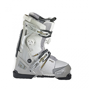 apex ski boots women's ml-3 ski boot- Save 25% Off - On Sale. Free Shipping. Apex Ski Boots Women's ML-3 Ski Boot FEATURES of the Apex Ski Boots Women's ML-3 Ski Boot EVA Heat moldable liner with Thinsulate(R) for added warmth Liner speed laces included Tunable A-Flex Suspension(TM) and cuff alignment Micro & macro adjustable buckles Tri-level flex rating: 90/100/110 18 points of closure Two Boa(R) closure zones External Tongue construction for smooth closure and water shedding Apex molded rubber tread outsole with embedded carbon shank Anatomically designed upper walking boot for ladies