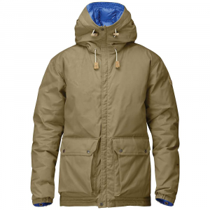 fjallraven men's down jacket no.16- Save 30% Off - The Specs Weight: (M): 1282 g Fill Weight: 280 g Fill Power: 700 cubic inches Fill: 95% goose down, 5% feather Lining: 100% polyamide Contains non-textile parts of animal origin (leather details) G-1000 Eco, 65% polyester, 35% cotton