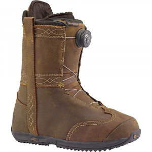 burton women's burton x frye boa snowboard boot- Save 29% Off - Features of the Burton Women's Burton x Frye Boa SnowBoard Boot Boa Coiler Closure System Powered by New Burton Exclusive New England Ropes with a Lifetime Warranty: Indest ructible, warranteed for life Performance, new england rope laces inner Coiler spool to route the laces, the dial-it-in system retains its quick, easy, and effective lace adjustment. Natural fiber ropes equal a more natural flex and feel for greater all-day comfort. Available in single and Dual zone set-ups, the system quickly loosens or tightens with simple twists 1:1 Soft Flex Tongue: Fit and precise, liner-to-shell integration. 1:1 lasting means that every half and full size liner gets a matching half and full size shell and Outsole for the best possible Fit with the smallest possible footprint Women's-Specific True Fit Design: Boot liners to lace guides, baseplate to strap designs, Board shapes to flex profiles-has been designed B3 Gel: Cushioning found High-end boots for unstoppable impact protection Sleeping Bag Reflective Foil: Lightweight underfoot Technology reflects heat back to the feet, improving both warmth and comfort when faced with cold conditions. Exclusive to the felix and new ritual Total Comfort Construction: Total comfort's industry-exclusive construction eliminates the break-in period for a Fit that feels just as good from day 1 to 100 Snow-Proof Internal Gusset: Boot tongues feature an internal gusset construction to completely seal the lower zone of the boot, keeping feet warm and dry Level 1 Molded EVA Footbed: Lightweight and long-lasting shock absorption Imprint 3 Liner: Focus cuff heel hold system with velcro j-bar interface and inner lace lock, tuff cuff with velcro j-bar interface and inner lace lock (driver x and felix only), plush cuff 1.0, lightweight power panels, sock lock, rad pad for lace comfort, velcro liner closure, level 2 molded EVA Footbed with ESS support shank and aegis antimicrobial coating, heat-moldable Dryride Heat Cycle Lining: Warmth and wicking, comfort in Snow. Radiate, and reflect body heat inward to keep feet warmer while also wicking heat-robbing moisture outward for all day comfort Plush Cuff 1.0: Lateral neoprene stretch zones and a super soft faux fur lining, felix, ritual, memento, emerald, bootique, and sapphire Rad Pad: Located on the top of your instep, right where the liner laces exert the most pressure, these pre-curved panels keep your feet stoked and secure