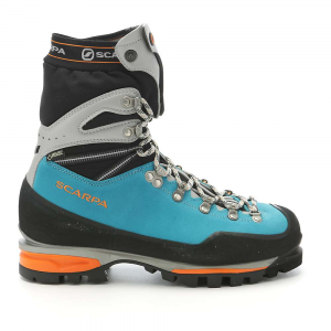 scarpa women's mont blanc pro gtx boot- Save 20% Off - Features of the Scarpa Women's Mont Blanc Pro GTX Boot Automatic and semi-automatic crampon-compatible RIBS Technology evenly spreads lace tensions across the entire foot Micro-Pulley hardwAre provides an effortless closure Integrated gaiter with double snap closure keeps you prepAred for all conditions Total Traction sole offers maximum support and torsional stability