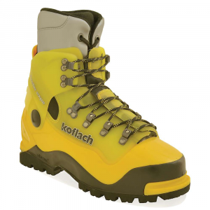 scarpa koflach arctis expe boot- Save 28% Off - Features of the Scarpa Koflach Arctis Expe Boot Y-Technology combines rigid plastic for support and secure crampon attachment with supple plastic for ease of lacing and natural walking comfort Comes standard with High Altitude liner and a heat reflective insole for maximum warmth Vario cuff articulation allows natural lateral and fore-aft flex Vibram? Dalaugiri sole is optimal for the High alpine blending Climbing zones, push and brake zones, with stability zones for True all-mountain function Steel roller lacing hardwAre provides unequaled tightening without the exertion Rubber randing absorbs impact and improves climb-ability Pebax? plastic is light and strong in any temperature