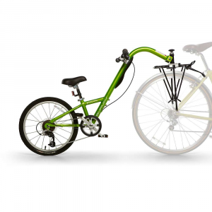burley kids' piccolo bike- Save 20% Off - Features of the Burley Kids' Piccolo Bike Versatile 7-speed twist grip shifter Adjusts easily for growing children Offers superior stability with Burley's patented aluminum ball-bearing guided hitch Hitch securely mounts to the Burley rear rack Gives children the feeling of riding a bike while keeping them safely connected to an adult s bike Helps kids learn to pedal and feel what it s like to balance and turn Height-adjustable seat and handlebars Splash guard blocks water spray from the rear tire of the adult bike Recommended for children 4 to 10 years old and up to 85 pounds Recommended adult-to-child weight ratio is at least 2 to 1