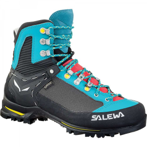 salewa women's raven 2 gtx boot- Save 20% Off - Features of the Salewa Women's Raven 2 GTX Boot 3D Lacing divides the lacing system into three indiviDually adjustable sections (forefoot, midfoot, cuff). This allows you to fine-tune and customize your Fit and find balance between comfort and Performance 3F System connects the instep Area of the shoe with the sole and heel; ensuring flexibility, support and the correct Fit where it's needed Climbing Lacing offers Climbing Lacing offers accurate adjustment in the toe-Area of your shoe, giving you more support and Performance when tackling Technical terrain The innovative multi-layer MFF+ allows for more customization on the forefoot by using two interchangeable layers to accommodate a greater range of foot shapes and sizes Overlap Tongue Construction provides perfect wrapping and superior comfort in the arch Area Ergonomic, long-lasting and durable cushioning. Its ergonomic shape and mechanical properties provide superior shock absorption even on steeper terrain for greater comfort than a standard sole The Flex Collar increases the ankle's rear range of motion and comfort during descents, thanks to a curved shape that follows the plantar flexion of the ankle Waterproof Aggressive tread and a minimalistic profile provides a natural feel for optimal traction, lightness and walkability
