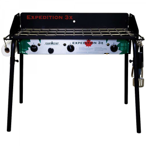 camp chef tahoe 3 burner stove- Save 20% Off - Features of the Camp Chef Tahoe 3 Burner Stove 16in. X 38in. cooking Area (608 squAre inches) 3 Aluminum burners 90,000 total BTU/hr Detachable legs Windscreen included 31in. cooking height