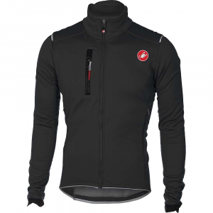 castelli men's espresso 4 jacket- Save 33% Off - Features of the Castelli Men's Espresso 4 Jacket Our fullest-featured jacket for long cold-weather base rides Gore Windstopper X-Fast fabric is windproof and water repellent with 4-way stretch for freedom of movement Stretch inserts at shoulders for extra flexibility in aggressive riding position Zippered chest pocket Zippered ventilation openings on front that double as extra storage Soft double-layered collar to seal out drafts Elastic band on back prevents jacket from riding up Full-length YKK Vislon zipper 3 Rear pockets Innovative Cross Wrap lie-flat wrist closures Reflective piping around waist for 360Adeg visibility