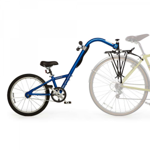 burley kids' kazoo bike- Save 20% Off - Features of the Burley Kids' Kazoo Bike Gives children the feeling of riding a bike while keeping them safely connected to an adult s bike Helps kids learn to pedal and feel what it s like to balance and turn Height-adjustable seat and handlebars Splash guard blocks water spray from the rear tire of the adult bike Patented double locking hitch attaches to the Moose Rack to keep your child stable and safely connected behind you Recommended for children 4 to 10 years old and up to 85 pounds Recommended adult-to-child weight ratio is at least 2 to 1