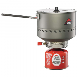 msr reactor 2.5l stove system- Save 25% Off - The MSR Reactor 2.5L Stove System is one of the fastest and most fuel efficient stoves currently on the market.  It is a solid choice for the light hiker all the way to the casual camper.  The 2.5 liter pot is ample volume for 4-5 people.  On blustery winter hikes you can melt enough Snow for your whole crew.  Then use it to prepAre your signature meal (mine is boiled Spam with bits of Spam wrapper).  The heat exchanger completely encloses the radiant burner head and virtually takes the wind out of the equation.  This means faster boil times and efficient fuel usage.  The stove and fuel both pack into the pot for ultimate convenience. Features of the MSR Reactor 2.5L Stove System Boils 1 liter of water in just 3 minutes-with an even greater advantage in challenging conditions Patent-pending radiant burner and heat exchanger make the Reactor efficient so you carry less fuel Radiant burner head is enclosed by heat exchanger for total protection in even the windiest conditions State-of-the-art stove and High-efficiency pot Are combined into one compact, easy-to-use system Internal regulator equalizes fuel pressure for optimal Performance in all conditions and at all fuel levels Compact: All systems Are self-contained, Fitting the stove and fuel inside the pot Burn less fuel, carry less fuel, and move faster than with any other stove available
