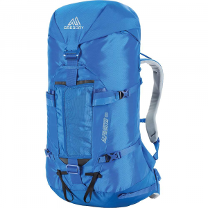 gregory alpinisto 50 pack- Save 25% Off - The Gregory Alpinisto 50 is an alpine pack for hauling gear. The pack doesn't stop there, it is quite versatile as well, allowing you to strip it down at your base camp for a summit push in the wee hours of the morning. The backpanel is tough and durable with comfy shoulder straps and harness for the heavy load. Just remove the hipbelt, Hdpe framesheet, bivy pad, and top lid and suddenly you're ready for the trek to the top. The front of the pack has a crampon-specific pocket made of extra-durable fabric so they won't ruin the rest of your gear. Strap on ice axes, and add additional gear via the extra loops as necessary. This beastly pack can even carry skis at an A-frame! Sounds about time to take on the mountain. Features of the Gregory Alpinisto 50 Fusion Flex Suspension Stowable crampon pocket with TPU panel to protect contents from sharp points Dual ice axe attachment system compatible with all modern tool head designs Top pocket designed with occipital cutout for optimal helmet clearance Main pack body closure with single, anodized hook for maximum durability Removable waistbelt padding for weight savings Hydration hose port with locking zipper Single wand pocket Side zip access to main body Dual ski slots Sled pull attachment points integrated into waistbelt Hi-visibility Alpine gold exterior color Bright interior color for easy visibility of gear Security pocket under lid with key fob Removable bivy pad Rope Strap Haul loops Gear loops and ice clipper slots on waistbelt Removable top pocket Expandable collar for added volume